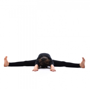 legs spread back stretch pose  pada prasar