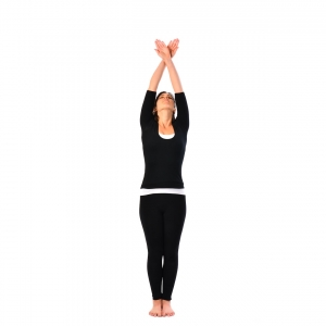 locked hand raising pose  bandha hasta uttanasana 2