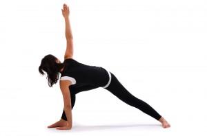 reveloved bent knee triangle pose  trikonasana  satya