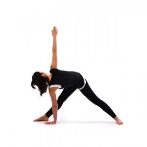 revolved triangle pose  satya live yoga  southern tablelands