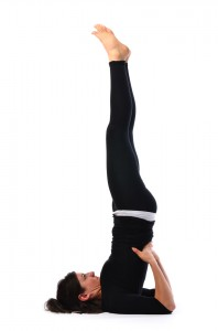 shoulder stand pose  sarvangasana  satya live yoga