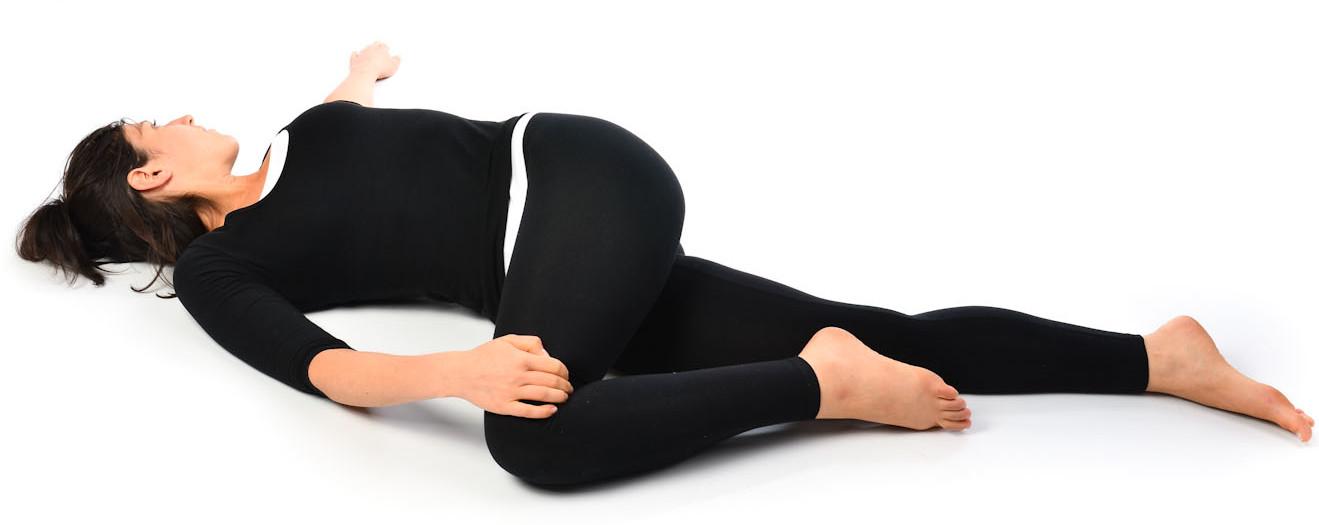 Universal Spinal twist - Shava Udarakarshanasana